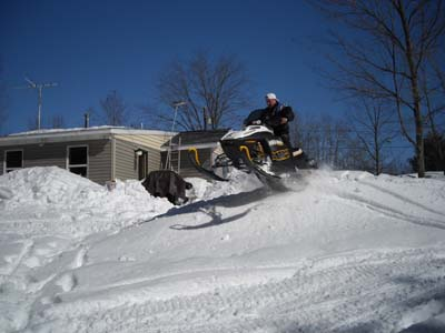 Jumping Snowmobile